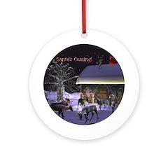 Santa's Coming! Ornament (Round)