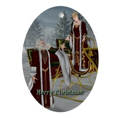 Mr 'N Mrs Claus Oval Ornament