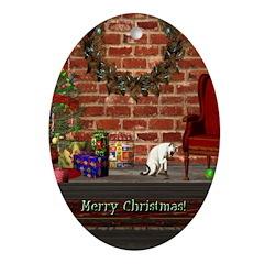 Christmas Morning Oval Ornament