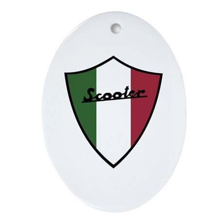 Scooter Shield Oval Ornament