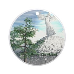 Angel Watch Ornament (Round)