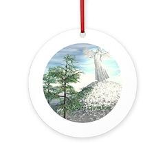 Angel Watch Ornament (Round)