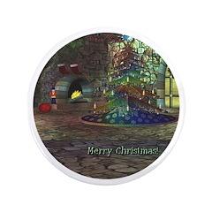 "I Love Christmas 3.5"" Button"