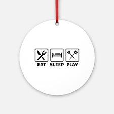 Eat Sleep Play Darts Round Ornament