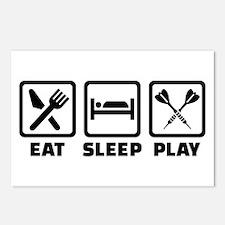 Eat Sleep Play Darts Postcards (Package of 8)