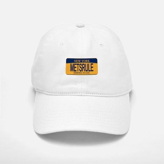 MetsRule Ny License Plate Baseball Baseball Cap