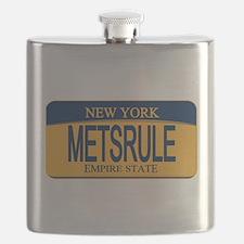 MetsRule Ny License Plate Flask
