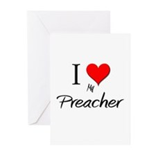 I Love My Preacher Greeting Cards (Pk of 10)