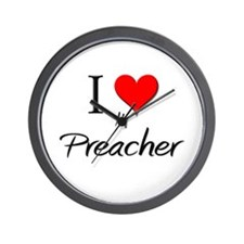 I Love My Preacher Wall Clock