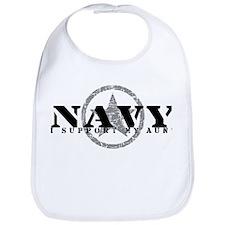 Navy - I Support My Aunt Bib