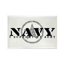 Navy - I Support My Aunt Rectangle Magnet
