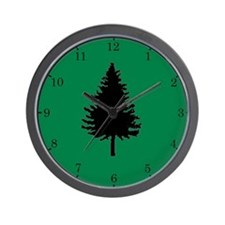 Oregon Douglas-fir Wall Clock