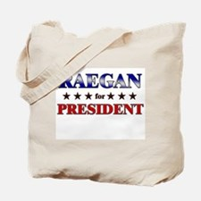 RAEGAN for president Tote Bag