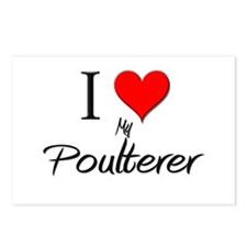 I Love My Poulterer Postcards (Package of 8)