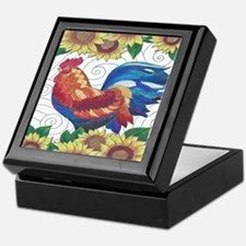 Unique Chickens and roosters Keepsake Box