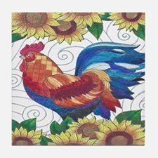 Cute Rooster Tile Coaster
