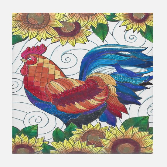 Cool Rooster Tile Coaster