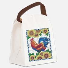 Funny Rooster Canvas Lunch Bag