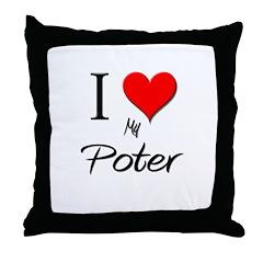 I Love My Poter Throw Pillow