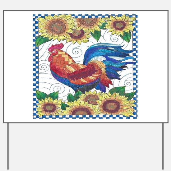 Country Rooster Yard Sign