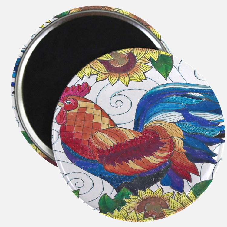 Country Rooster Magnets