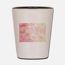 Watercolor Pink Floral Background Shot Glass