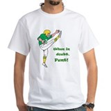 Football kicker Mens Classic White T-Shirts