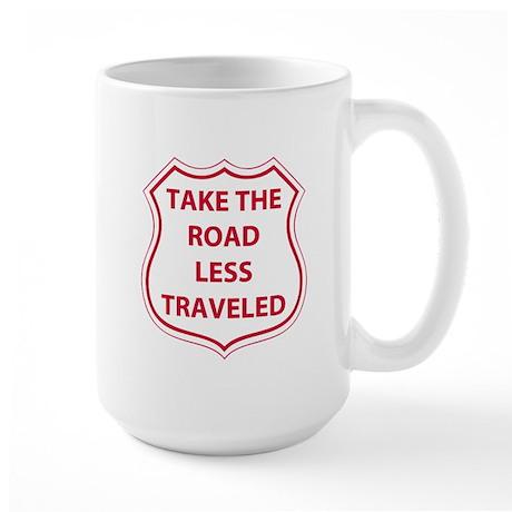 Less Traveled Large Mug