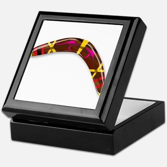 Decorated Boomerang Keepsake Box