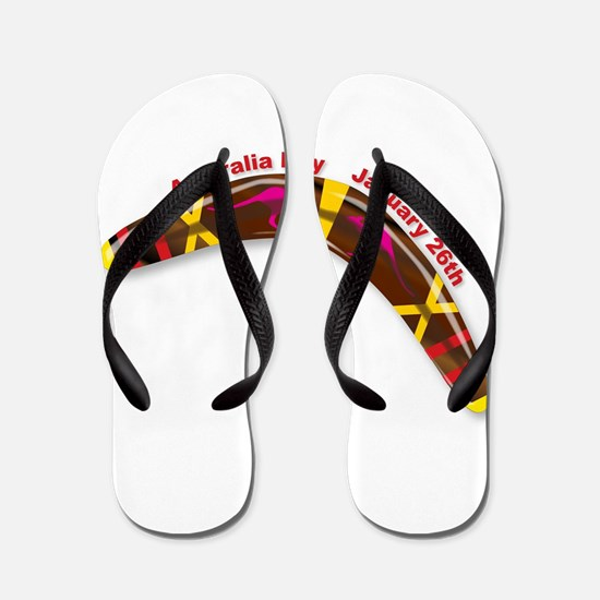 Australia Day Decorated Boomerang Flip Flops