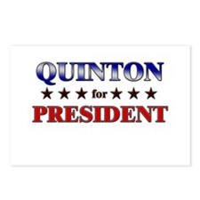 QUINTON for president Postcards (Package of 8)