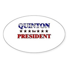 QUINTON for president Oval Decal