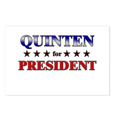 QUINTEN for president Postcards (Package of 8)