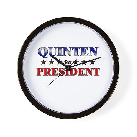 QUINTEN for president Wall Clock