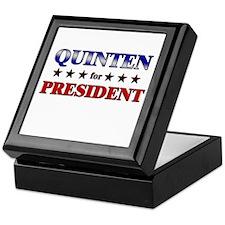 QUINTEN for president Keepsake Box