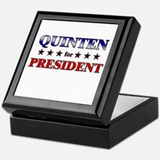 QUINTEN for president Keepsake Box