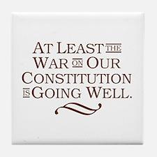 War on Constitution Tile Coaster