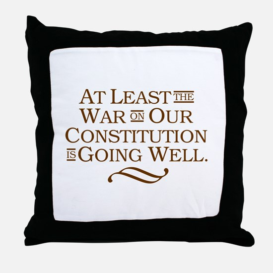 War on Constitution Throw Pillow