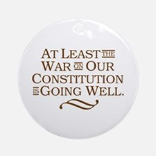 War on Constitution Ornament (Round)