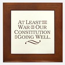 War on Constitution Framed Tile