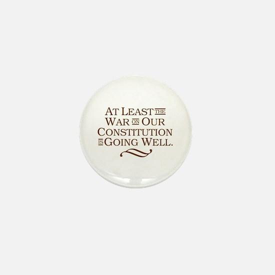 War on Constitution Mini Button