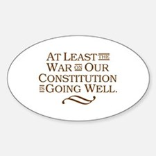War on Constitution Oval Decal