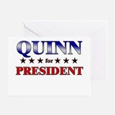 QUINN for president Greeting Card