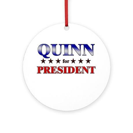 QUINN for president Ornament (Round)