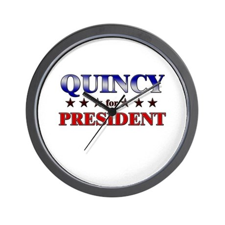 QUINCY for president Wall Clock