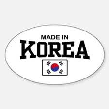 Made In Korea Oval Decal