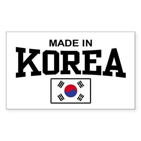 Made In Korea Rectangle Sticker