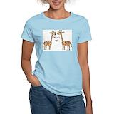 Funny giraffe Women's Light T-Shirt