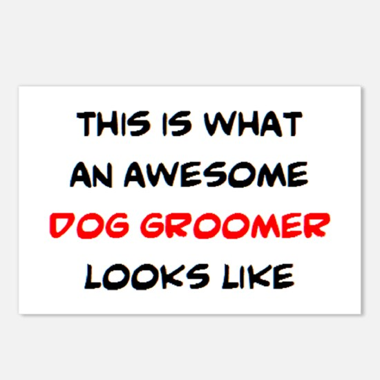 awesome dog groomer Postcards (Package of 8)