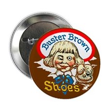 """Buster Brown Shoes #1 2.25"""" Button (10 pack)"""